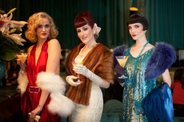 Vintage Allsorts Models Display The Elegant Art of Cocktail Fashion